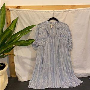 Blue Striped Dolman Dress